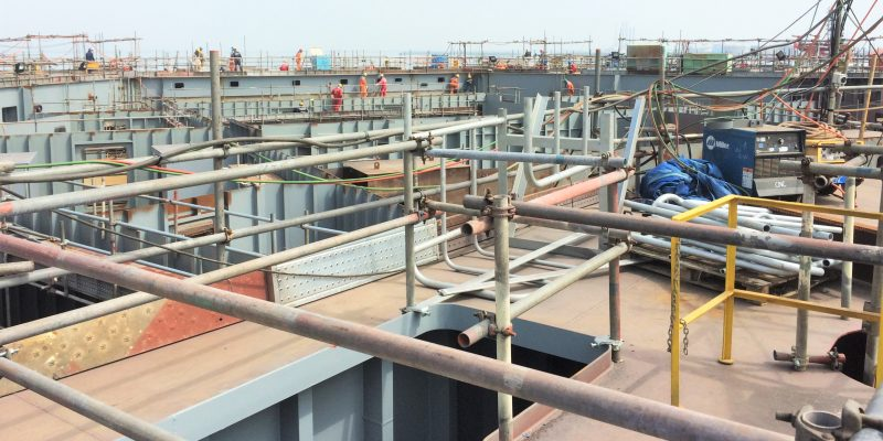 Steel Structure Offshore Tam Dao Auto-Lift Platform