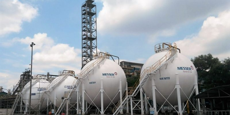 02 x 650m3 + 02 x 400m3 Spherical Tanks at Hai Duong Branch (Messer)